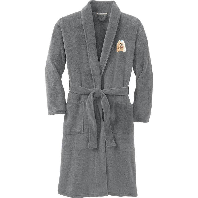 Port Authority Plush Microfleece Robe Deep Smoke Large/X-Large Maltese D64