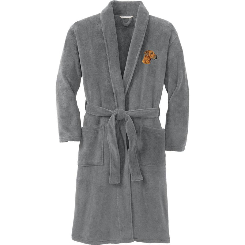 Port Authority Plush Microfleece Robe Deep Smoke Large/X-Large Rhodesian Ridgeback DN297
