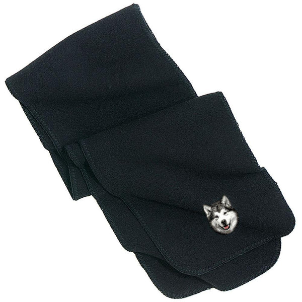 Embroidered Scarves Black  Alaskan Malamute D33
