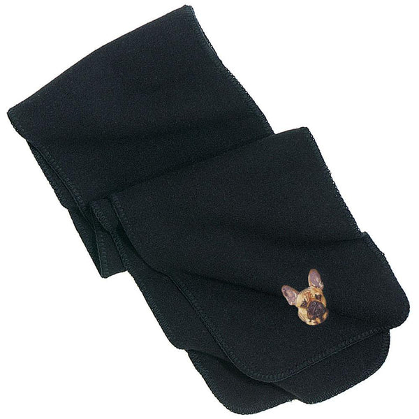 Embroidered Scarves Black  French Bulldog DN333