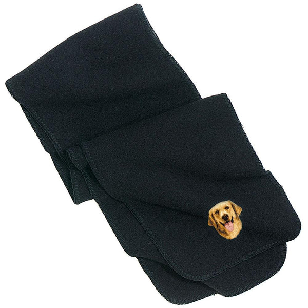 Embroidered Scarves Black  Golden Retriever D5