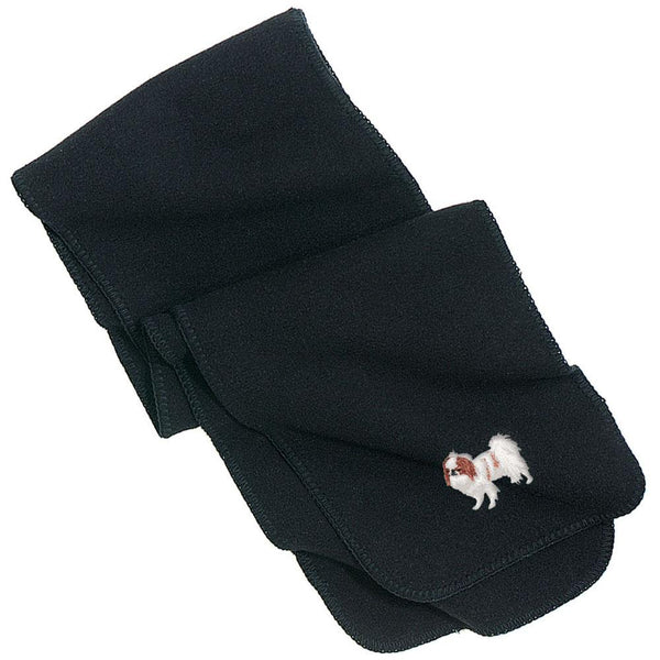 Embroidered Scarves Black  Japanese Chin DV213