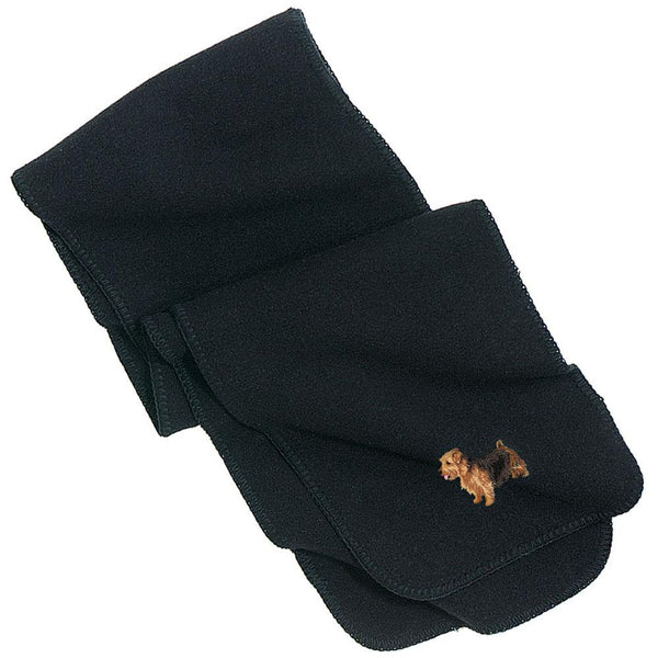 Embroidered Scarves Black  Norfolk Terrier DJ277