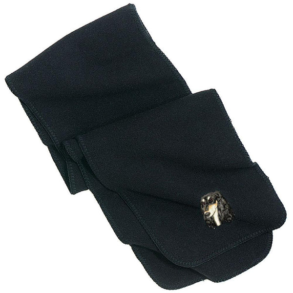Embroidered Scarves Black  Saluki D76