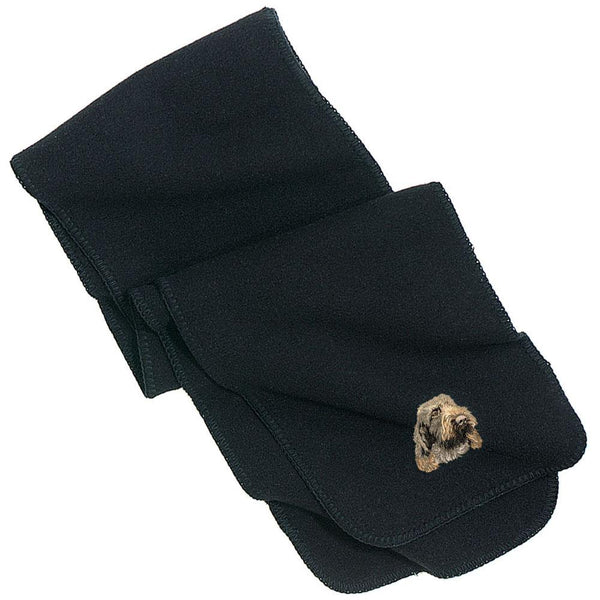 Embroidered Scarves Black  Spinone Italiano DV249