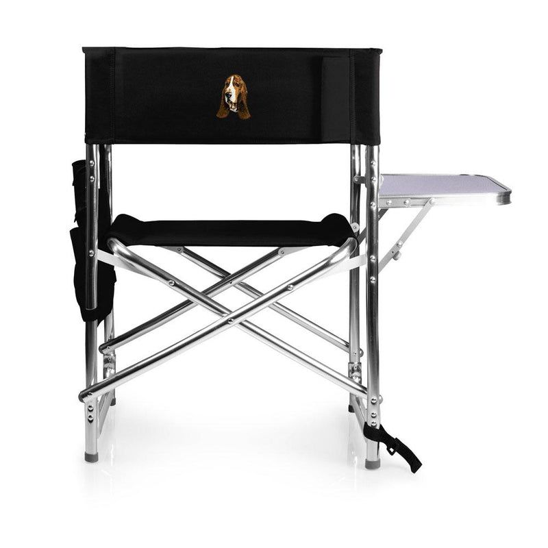 Basset Hound Embroidered Sports Chair