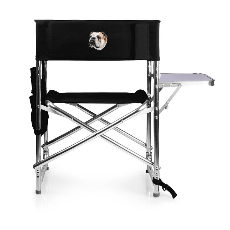 Bulldog Embroidered Sports Chair