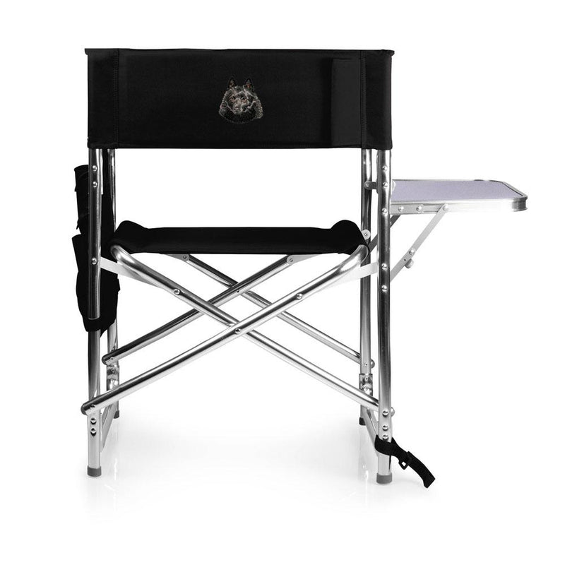 Schipperke Embroidered Sports Chair
