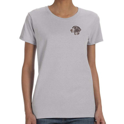 German Shorthaired Pointer Embroidered Ladies T-Shirts