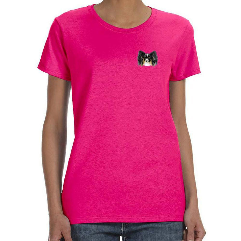 Embroidered Ladies T-Shirts Hot Pink 3X Large Papillon D151