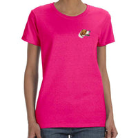 Pointer Embroidered Ladies T-Shirts