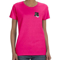 Smooth Fox Terrier Embroidered Ladies T-Shirts