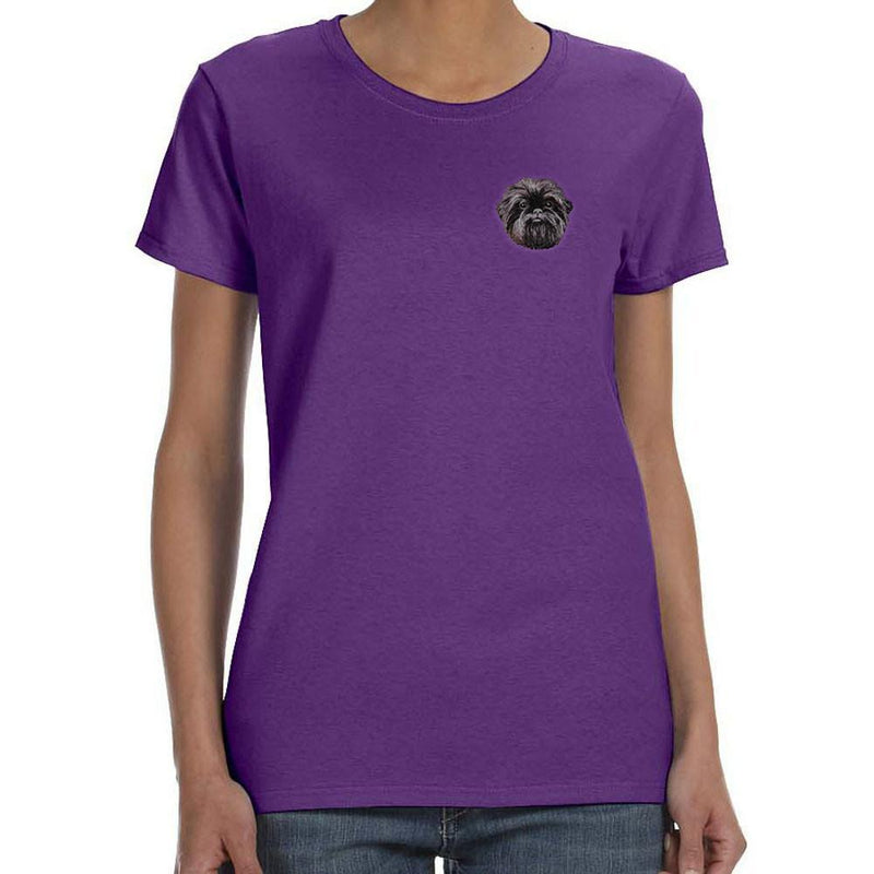 BirdDawg Embroidered Dog Breed Ladies T-Shirt Purple 3X Large Affenpinscher DM488