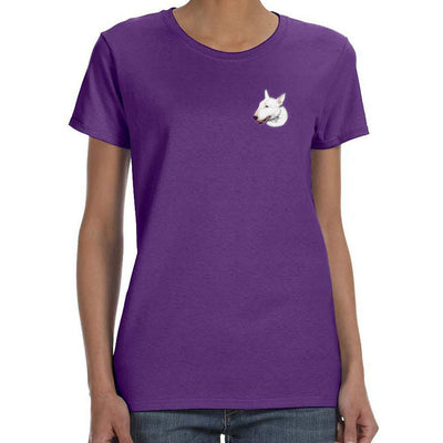 Bull Terrier Embroidered Ladies T-Shirts