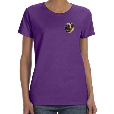 Mastiff Embroidered Ladies T-Shirts