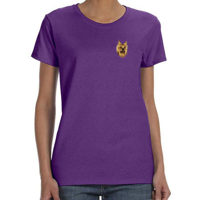 Yorkshire Terrier Embroidered Ladies T-Shirts