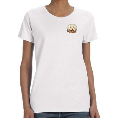 Havanese Embroidered Ladies T-Shirts