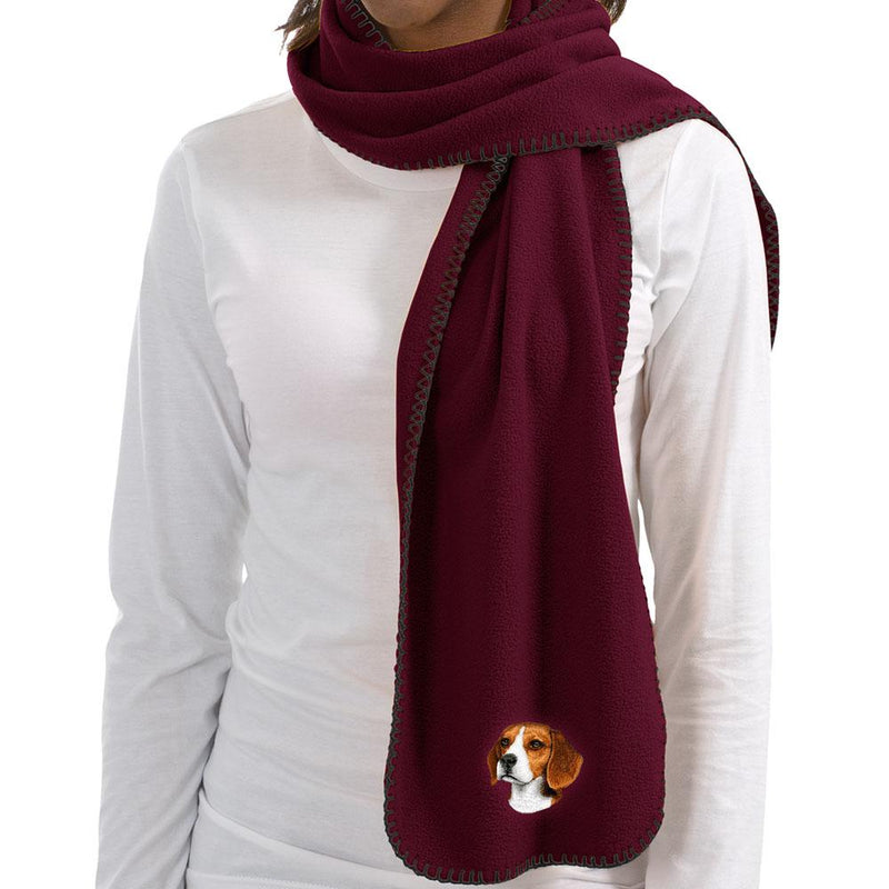Beagle Embroidered Scarves
