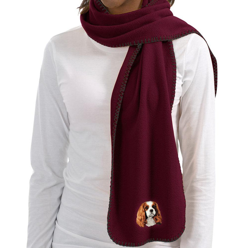Cavalier King Charles Spaniel Embroidered Scarves
