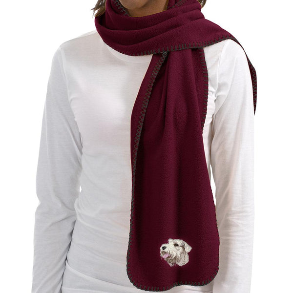 Embroidered Scarves Maroon  Sealyham Terrier DM342