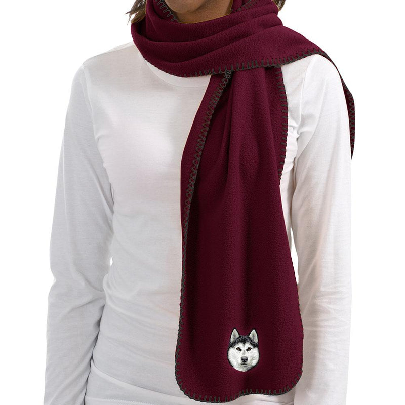 Siberian Husky Embroidered Scarves