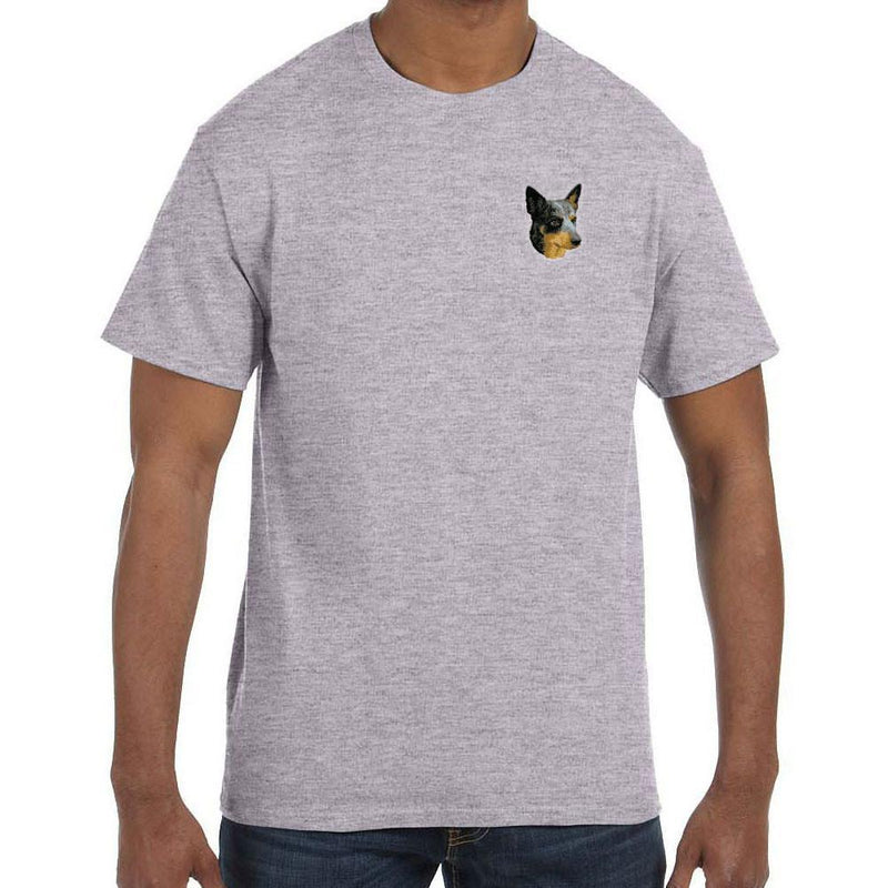 Embroidered Mens T-Shirts Sport Gray 3X Large Australian Cattle Dog D99