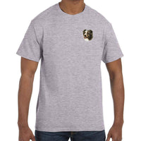 Australian Shepherd Embroidered Mens T-Shirts