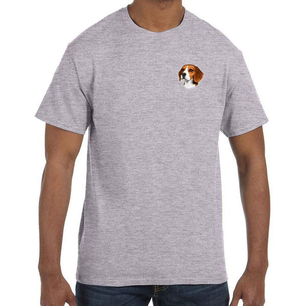 Embroidered Mens T-Shirts Sport Gray 3X Large Beagle D31
