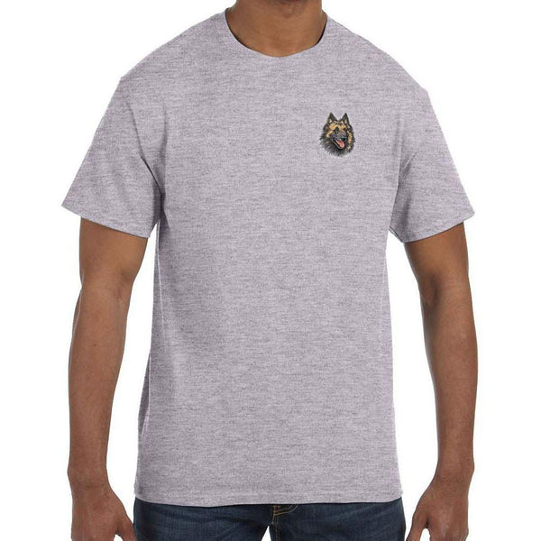 Embroidered Mens T-Shirts Sport Gray 3X Large Belgian Tervuren DV220