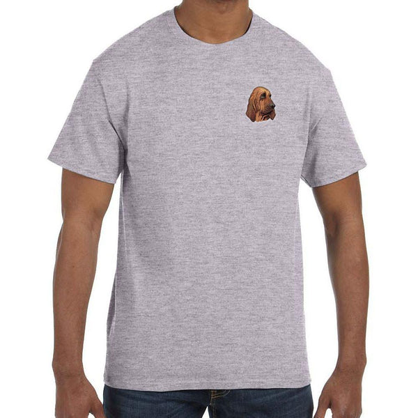 Embroidered Mens T-Shirts Sport Gray 3X Large Bloodhound DM411