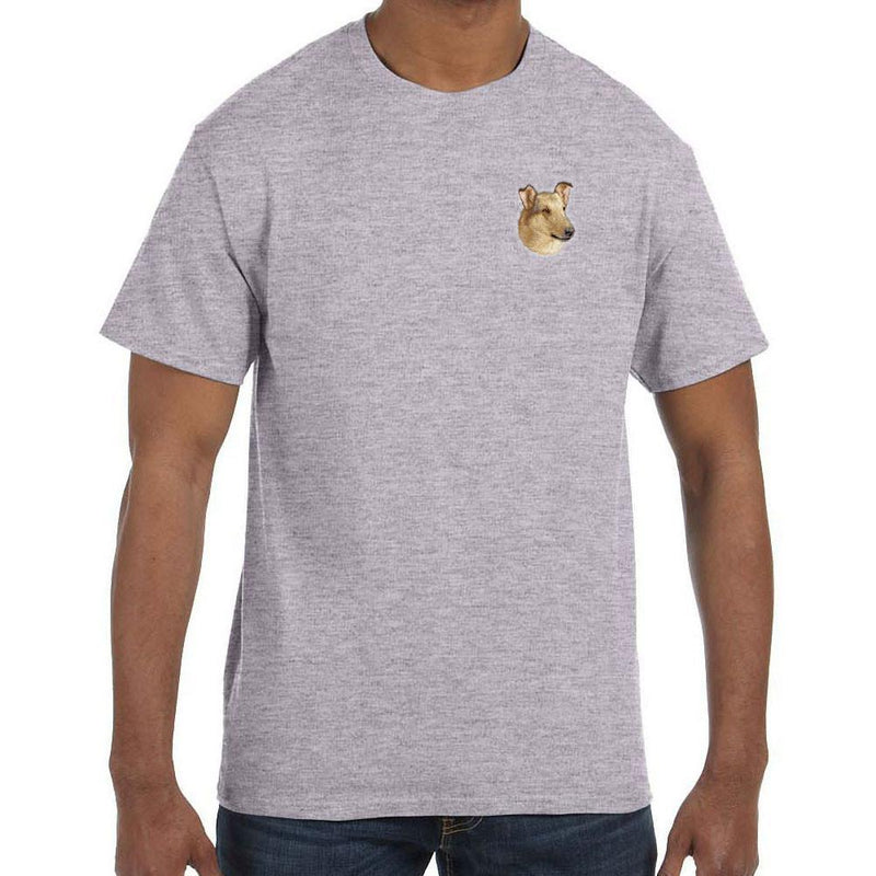 Embroidered Mens T-Shirts Sport Gray 3X Large Collie D150