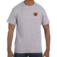 Dachshund, Smooth, Embroidered Mens T-Shirts