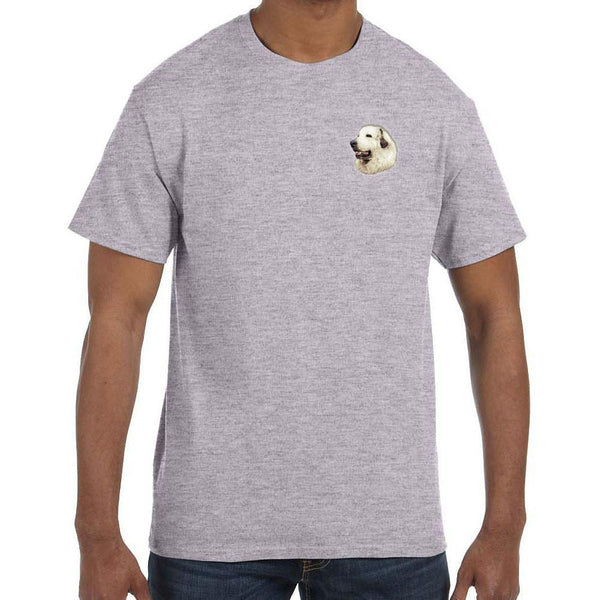 Embroidered Mens T-Shirts Sport Gray 3X Large Great Pyrenees D27