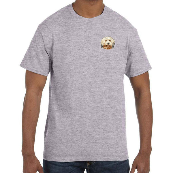 Embroidered Mens T-Shirts Sport Gray 3X Large Havanese DV372