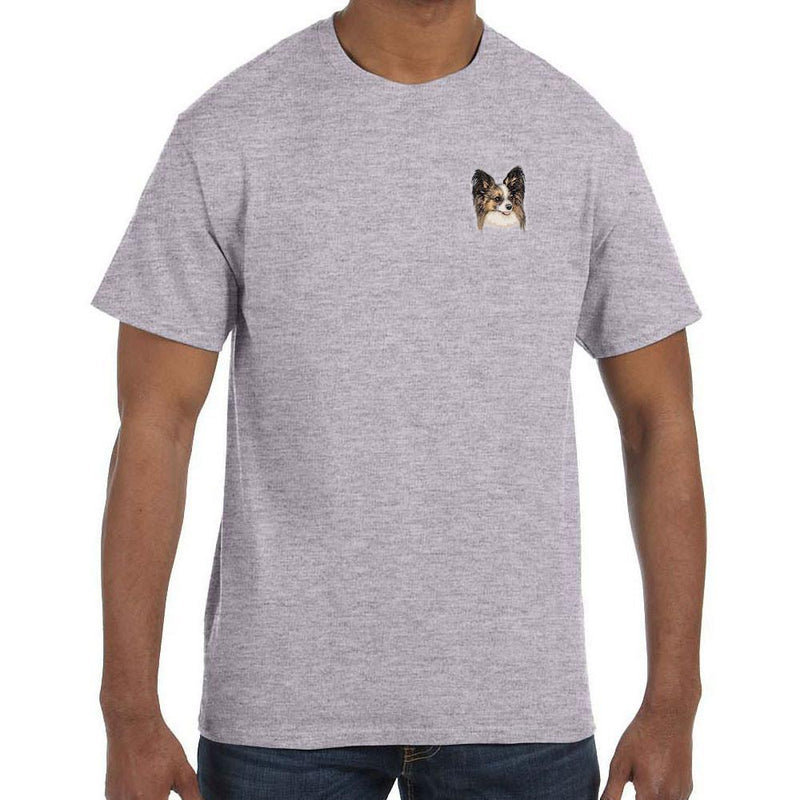 Embroidered Mens T-Shirts Sport Gray 3X Large Papillon DV463