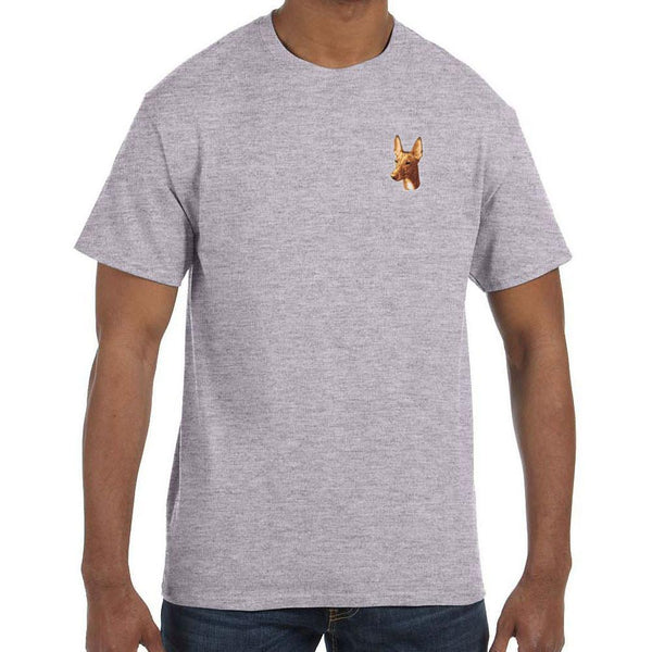 Embroidered Mens T-Shirts Sport Gray 3X Large Pharaoh Hound D90