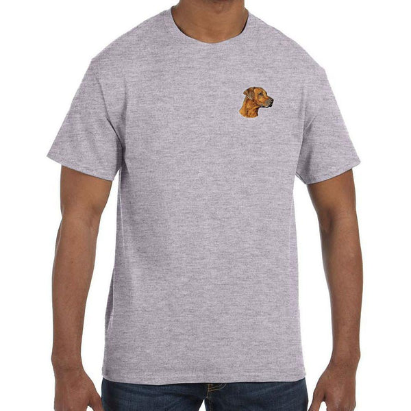 Embroidered Mens T-Shirts Sport Gray 3X Large Rhodesian Ridgeback D83