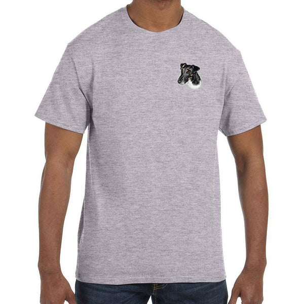 Embroidered Mens T-Shirts Sport Gray 3X Large Smooth Fox Terrier D134