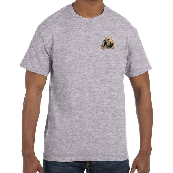 Embroidered Mens T-Shirts Sport Gray 3X Large Spinone Italiano DV249
