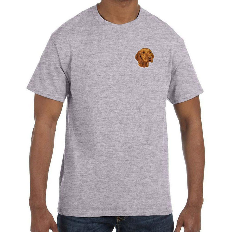 Embroidered Mens T-Shirts Sport Gray 3X Large Vizsla D93