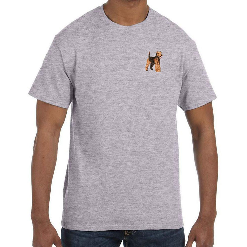 Embroidered Mens T-Shirts Sport Gray 3X Large Welsh Terrier DJ241