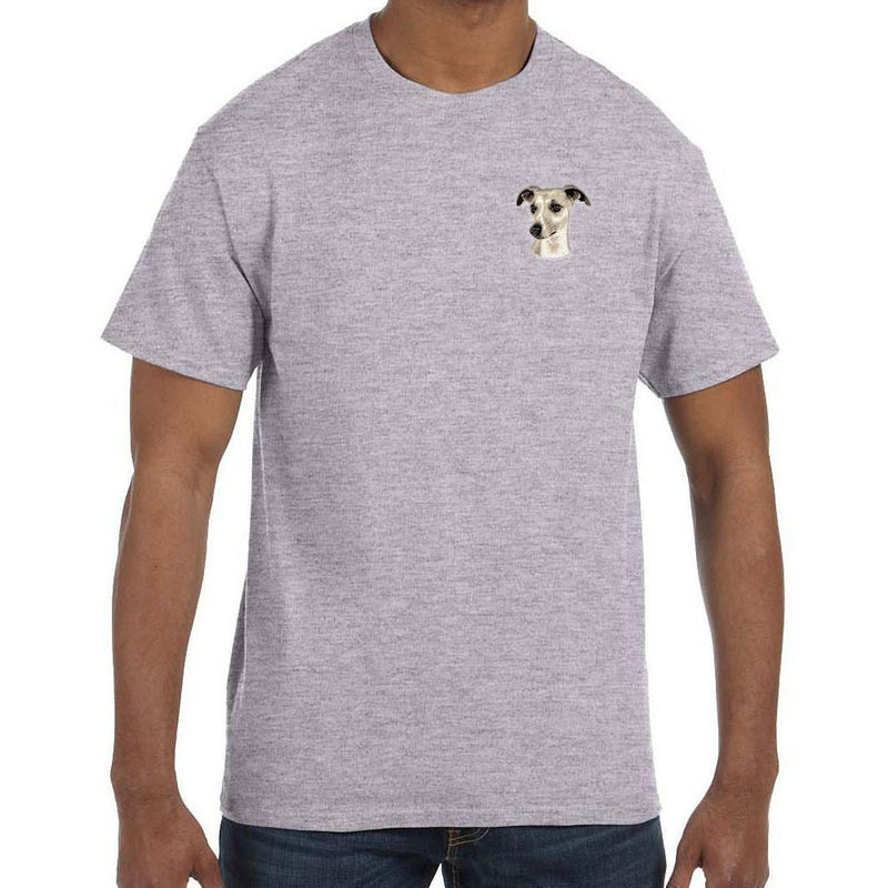 Embroidered Mens T-Shirts Sport Gray 3X Large Whippet D65