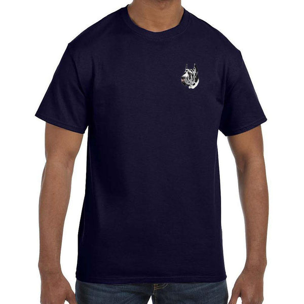 Great Dane Embroidered Mens T-Shirts