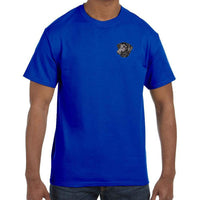 Curly Coated Retriever Embroidered Mens T-Shirts