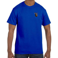 Doberman Pinscher Embroidered Mens T-Shirts