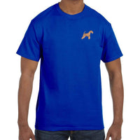 Lakeland Terrier Embroidered Mens T-Shirts
