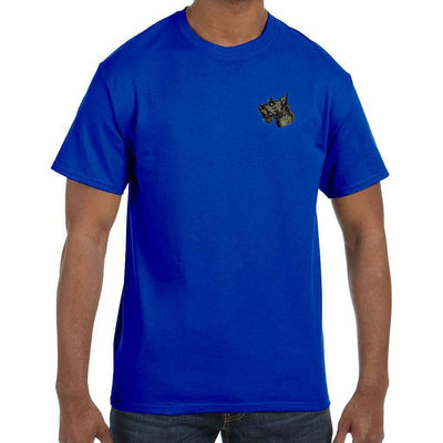 Scottish Terrier Embroidered Mens T-Shirts