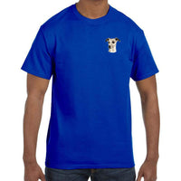 Whippet Embroidered Mens T-Shirts