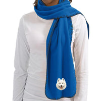 Samoyed Embroidered Scarves