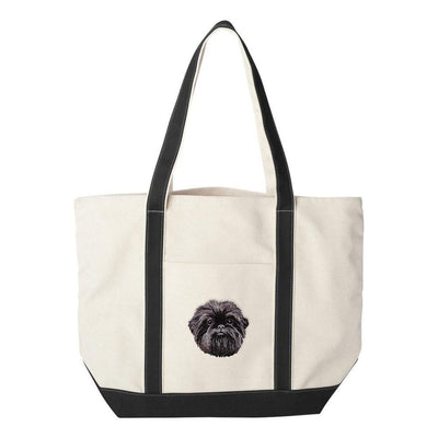 Affenpinscher Embroidered Tote Bag